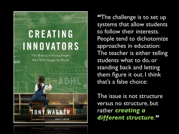 Creating Innovators - Structure